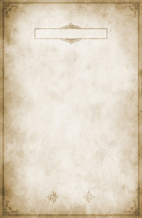 Old grunge paper background with vintage border and frame. Natural old paper texture for the design.
