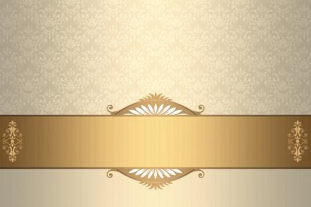 etiqueta: La cosecha de fondo elegante con cenefa decorativa y el ornamento pasado de moda. Foto de archivo