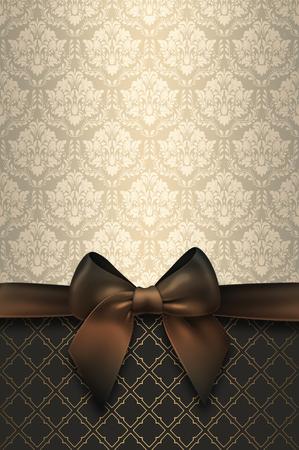 tarjeta de invitacion: Fondo de la vendimia con el arco elegante y patrones decorativos. Fondo de la vendimia.