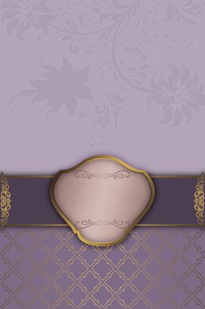 Decorative floral background with elegant frame.