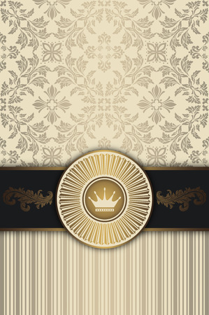 elegant backgrounds: Decorative background with wintage patterns and elegant frame. Vintage invitation card design.