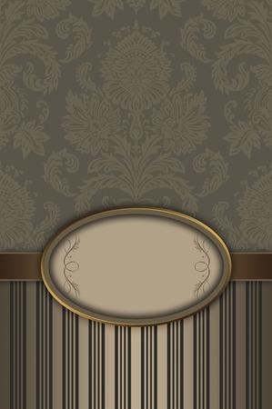 coverbook: Decorative vintage background with floral ornament and elegant frame.