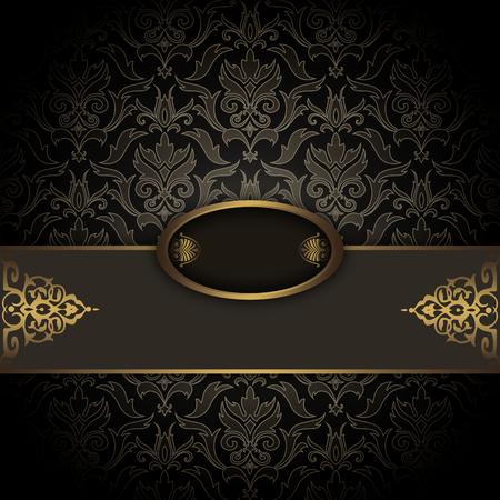 Vintage background with decorative border and elegant frame. Vintage invitation card design.