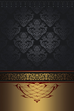 oldfashioned: Vintage background with decorative borders and old-fashioned ornament.