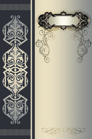 oldfashioned: Decorative vintage background with elegant ornamental border and old-fashioned frame.