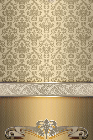 oldfashioned: Vintage ornate background with decorative patterns and old-fashioned ornamental border.