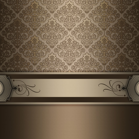 oldfashioned: Decorative vintage background with elegant border and old-fashioned floral patterns.