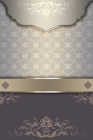old fashioned menu: Vintage background with decorative border and patterns. Vintage invitation card or cover-book design. Stock Photo