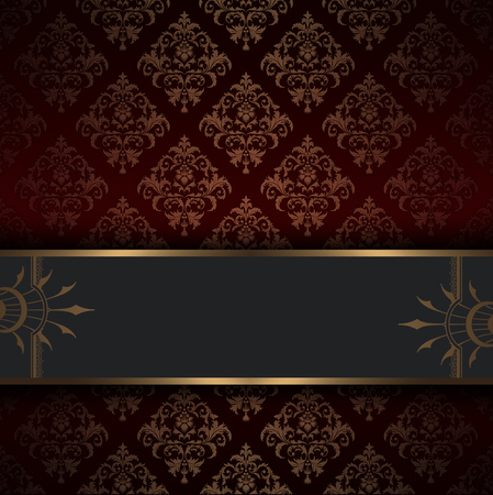 oldfashioned: Ornate vintage background with decorative border and old-fashioned floral patterns.