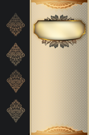 oldfashioned: Ornate vintage background with decorative border,frame and old-fashioned elegant patterns.