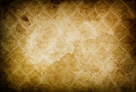 oldfashioned: Old grunge paper background with old-fashioned patterns for the design. Stock Photo