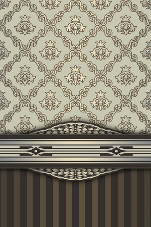 oldfashioned: Vintage background with decorative borders,elegant ornament and old-fashioned patterns.