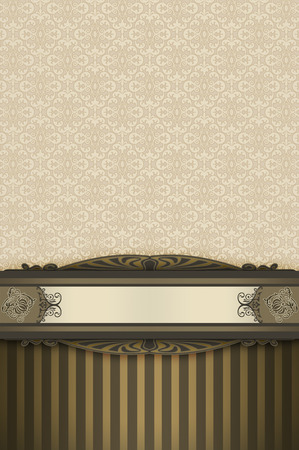 oldfashioned: Vintage background with decorative borders,old-fashioned ornament and copy space for the text. Elegant vintage background.