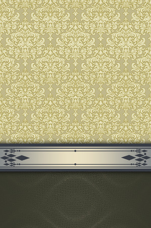 coverbook: Decorative background with vintage ornament and decorative border. Vintage invitation card or cover-book design.