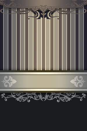 oldfashioned: Vintage background with decorative patterns and old-fashioned border.