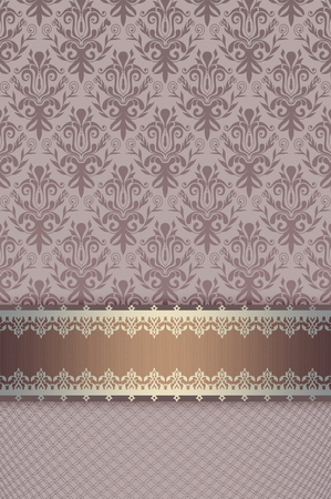 oldfashioned: Vintage background with old-fashioned ornament and decorative border.