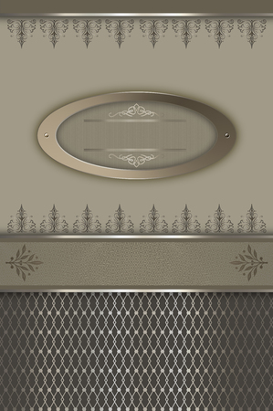 oldfashioned: Vintage background with decorative border,elegant frame and old-fashioned ornament. Stock Photo
