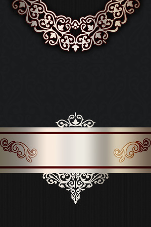 coverbook: Vintage background with decorative old-fashioned ornament. Cover-book design.
