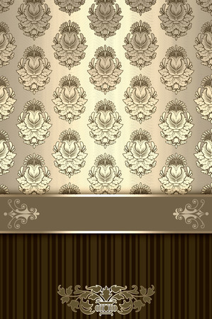 old fashioned menu: Vintage background with decorative ornaments and border.