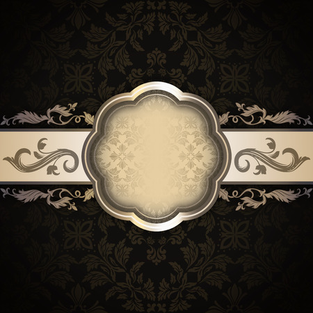 oldfashioned: Old-fashioned background with vintage floral ornaments and decorative frame.