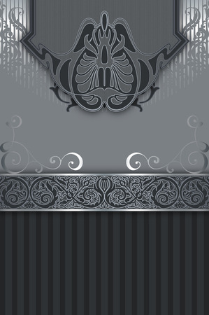 oldfashioned: Decorative vintage background with ornamental border and decorative old-fashioned patterns.
