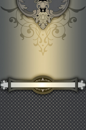 decorative patterns: Decorative background with elegant vintage border and patterns. Stock Photo
