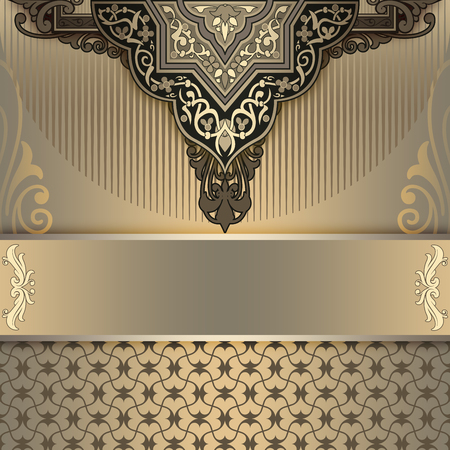 coverbook: Vintage background with old-fashioned ornament and patterns. Cover-book or vintage invitation card design.