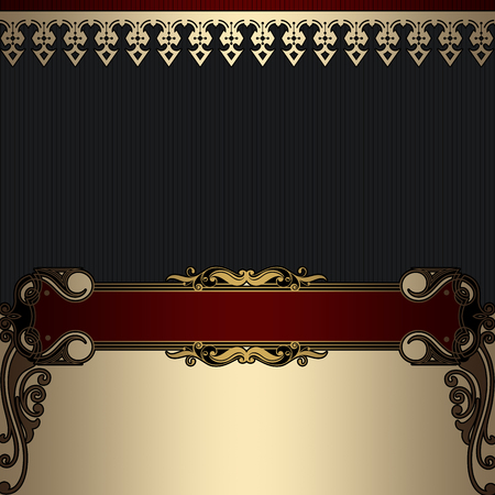 coverbook: Decorative ornate background with old-fashioned borders. Cover-book or vintage invitation card design.