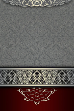 coverbook: Vintage luxury background with old-fashioned patterns and elegant ornamental border. Cover-book or vintage card design. Stock Photo