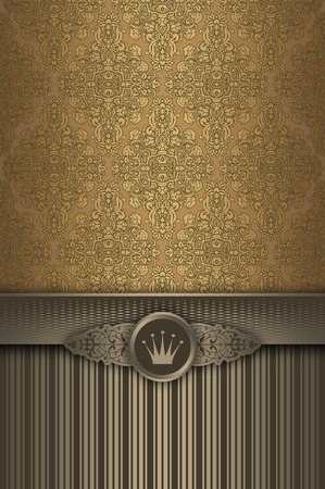 coverbook: Vintage background with decorative ornament,elegant patterns and border. Cover-book or vintage invitation card design.