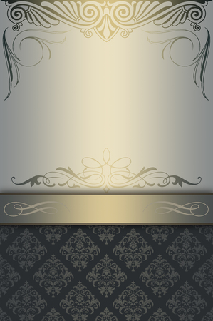 coverbook: Vintage background with decorative ornament and copy space for the text. Cover-book or vintage invitation card design.