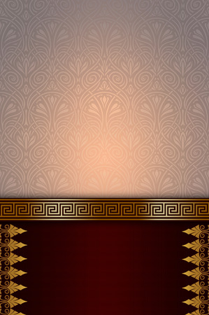 Luxury background with decorative patterns. Book cover or vintage invitation card design. Stock Photo