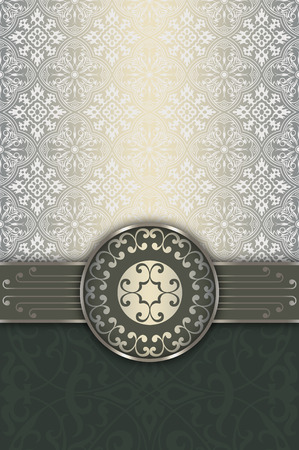 coverbook: Decorative background with old-fashioned patterns and elegant border.