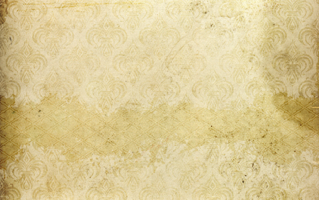 Old dirty paper background with old-fashioned ornament. Vintage paper texture for the design.