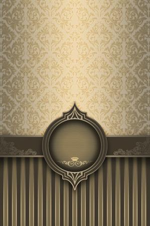 decoratio: Luxurious vintage background with decorative old-fashioned patterns,elegant border and frame. Stock Photo