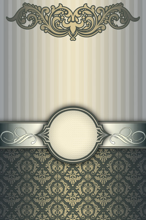 decoratio: Decorative vintage background with old-fashioned patterns and elegant frame.