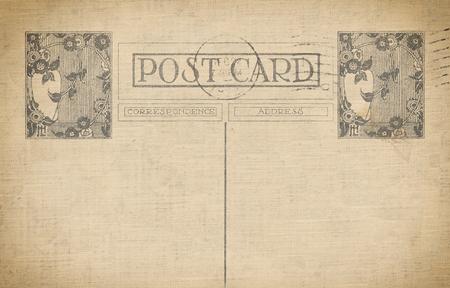 Vintage background carte postale avec un espace pour le texte et le cachet ancien ashioned. Banque d'images