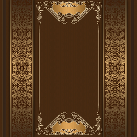 Luxury background with decorative floral borders and ornament.