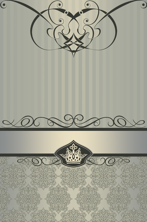 Vintage background with elegant decorative border and old-fashioned patterns.