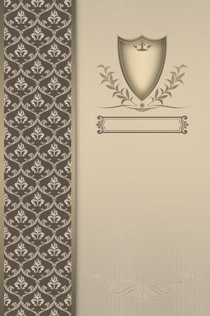 Sierlijke achtergrond met ouderwetse patronen en elementen. Stockfoto