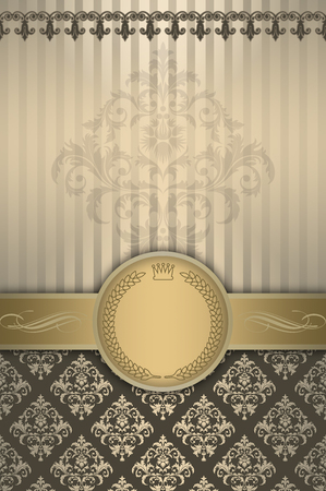 Vintage background with decorative elements and old-fashioned patterns.