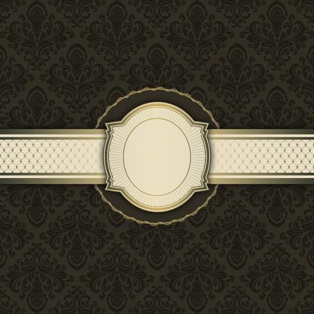 Vintage background with decorative border,elegant frame and old-fashioned patterns.