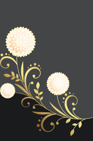 Luxury floral background with space for the text.