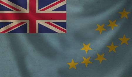 Vintage background with flag of Tuvalu. Grunge style. Stock Photo