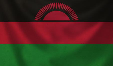 Vintage background with flag of Malawi. Grunge style. Stock Photo