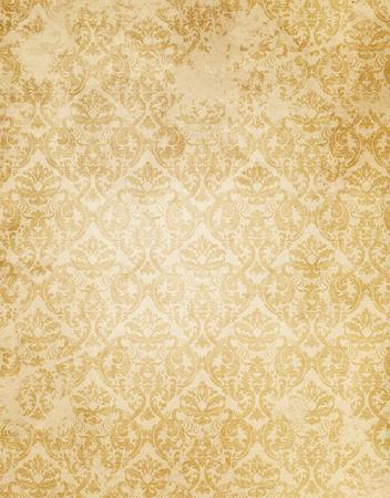 装飾的なパターンを持つヴィンテージ紙の背景。古いグランジの紙の質感。 写真素材