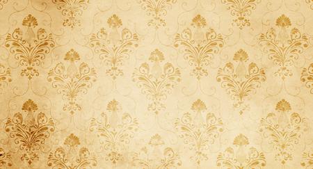 デザインのためのヴィンテージ花紙のテクスチャ。ヴィンテージ壁紙デザイン。 写真素材