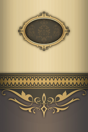 Decorative vintage background with elegant patterns and frame. Imagens