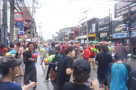 songkran: Songkran festival Stock Photo