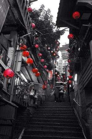jiufen: Taiwan jiufen old street Stock Photo